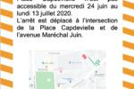 Accès arrêt Place Capdevielle perturbé pendant la Fête Foraine